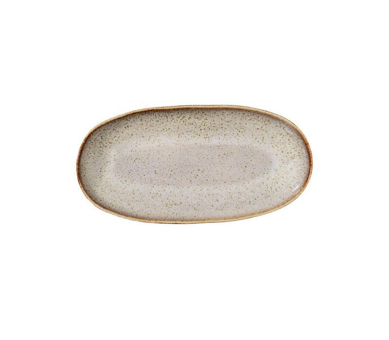 Sandrine serveerschaal L23.50xW12.50cm Grijs