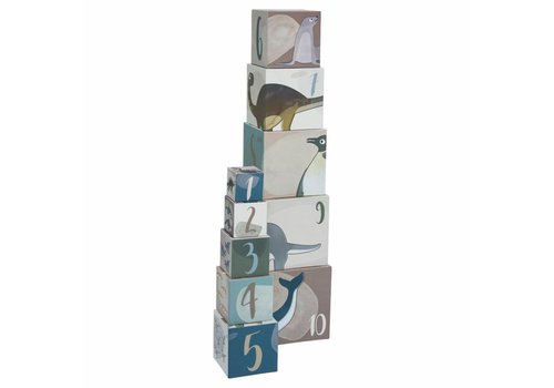 Sebra Stapelblokken speelgoed 10 stuks Dino/Arctic Animals