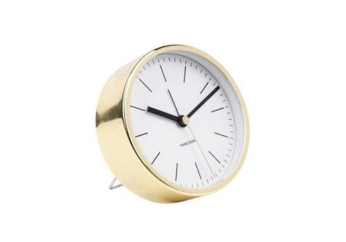 Karlsson Minimal alarmklok wit/goud tafelmodel