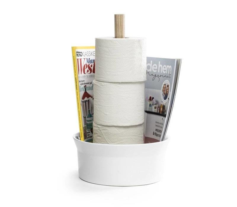 Angle Toiletpapierrolhouder wit
