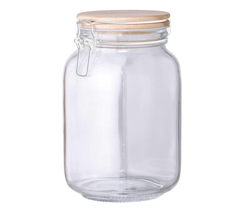 Glazen voorraadpot met deksel 11xh20cm