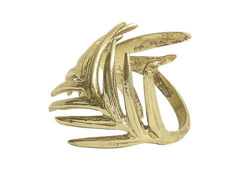Bloomingville Gouden servetten ring aluminum set van 4