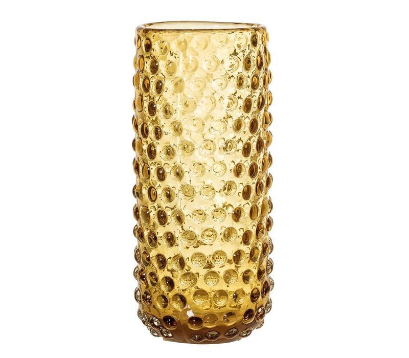 Bruine vaas glas