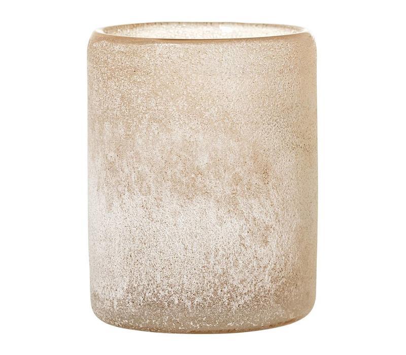 Bruine theelichthouder glas