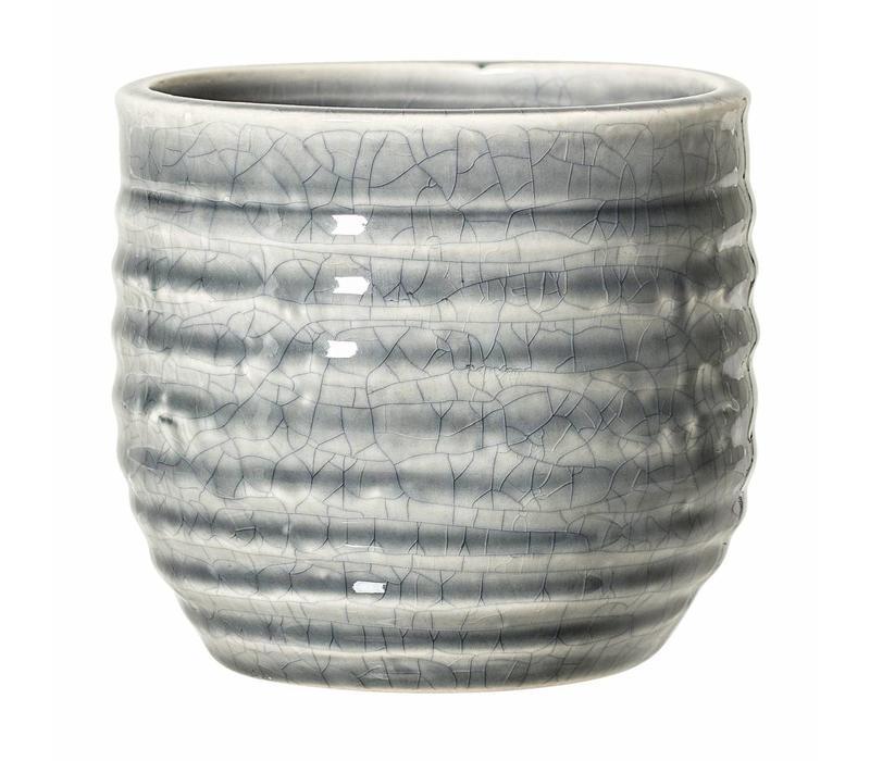 Bloempot grijs keramiek