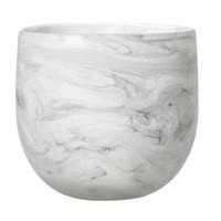 Bloempot wit glas