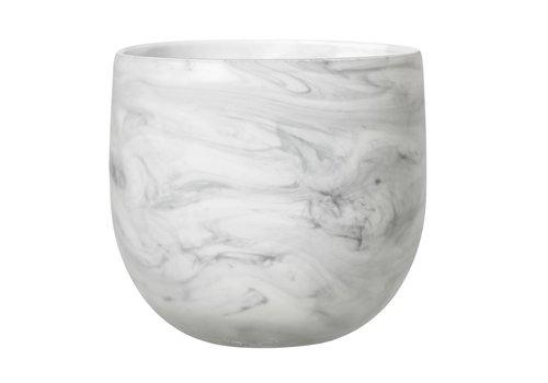 Bloomingville Bloempot wit glas