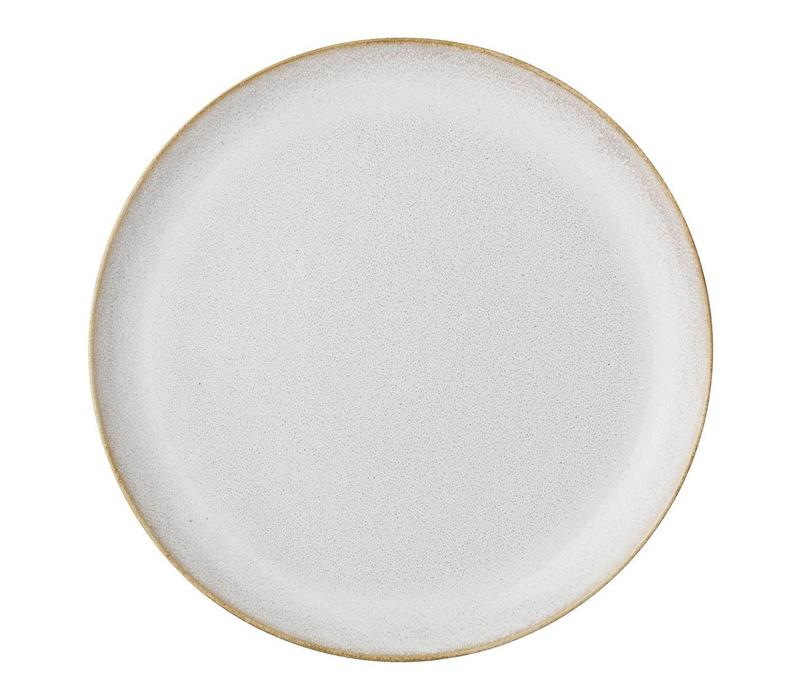 Carrie bord natuur keramiek 25 cm diameter