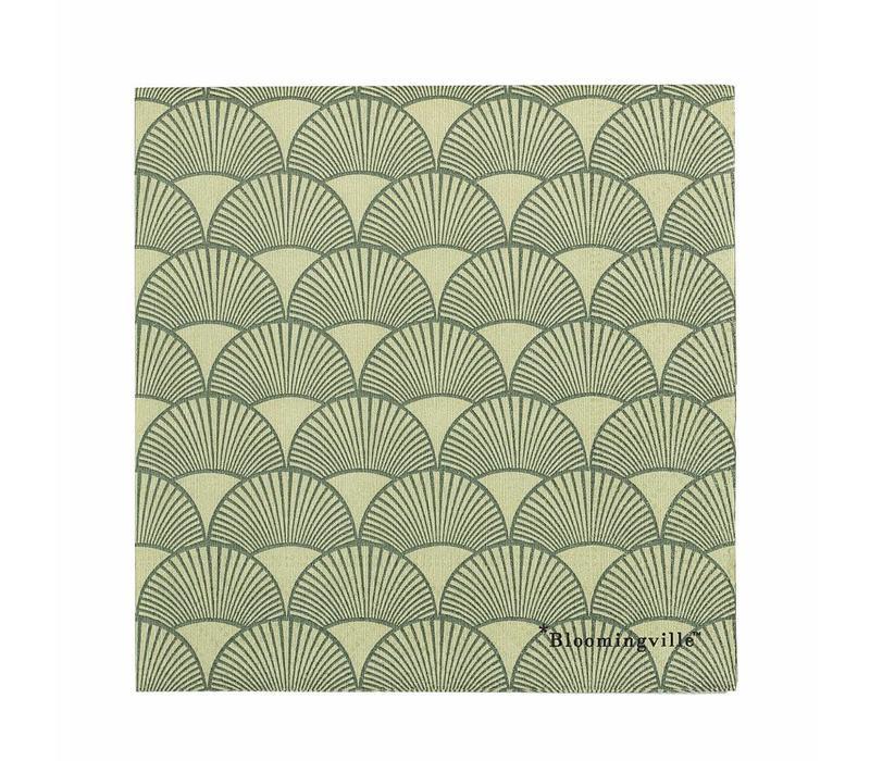 Servet groen papier