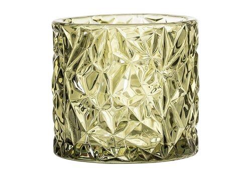 Bloomingville theelichthouder groen glas