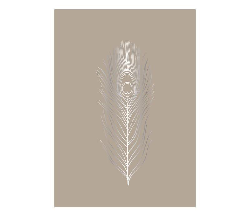 Poster natuur papier 70x50 veer