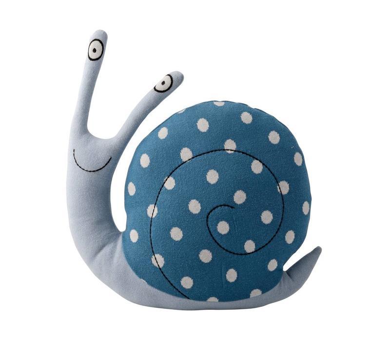 Kussen slak blauw