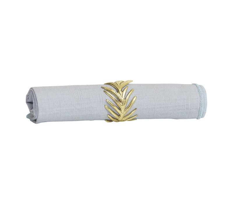 Gouden servetten ring aluminum set van 4