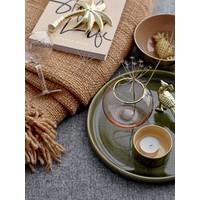 Dienblad groen keramiek