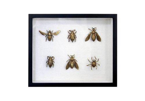 HK Living Messing insecten lijstje