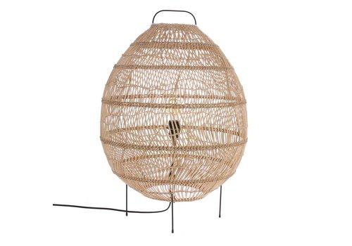 HK Living Vloerlamp van riet in ovale vorm