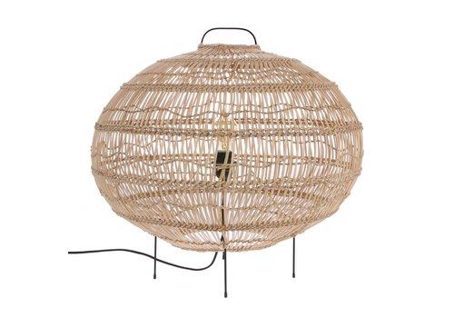 HK Living Vloerlamp riet ovale vorm