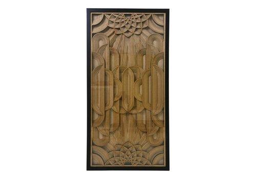 HK Living Kunstlijst met houten snijwerk