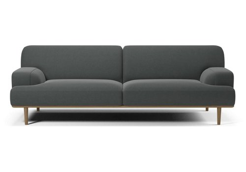 Bolia Madison 3 zitsbank  Velva Grey  Plint eik - Toonzaalmodel