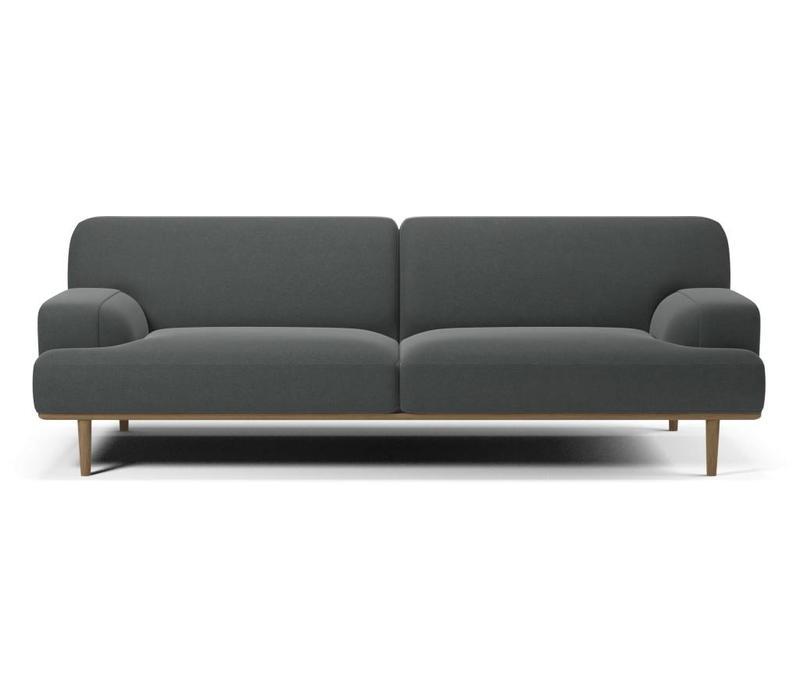 Madison 3 zitsbank  Velva Grey  Plint eik - Toonzaalmodel