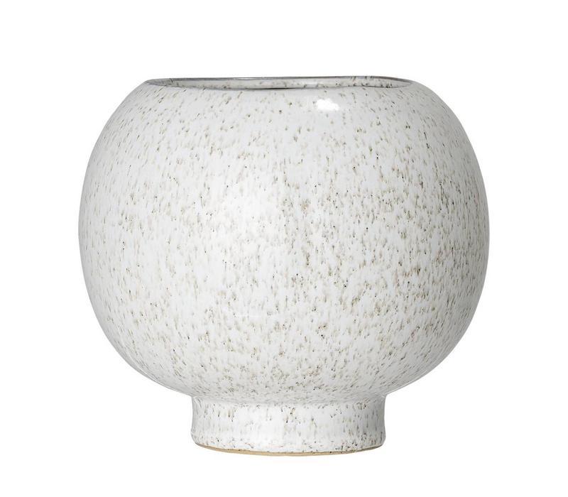 Bloempot in keramiek naturel Ø15 x H14 cm