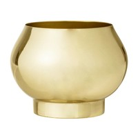 Bloempot in metaal goud Ø11 x H8 cm