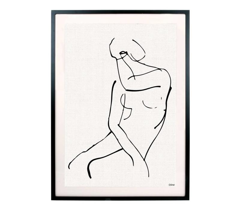 Kunstlijst met afbeelding vrouw