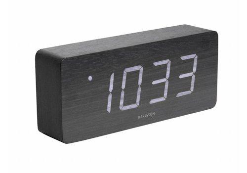Karlsson Tube alarmklok Wit LED