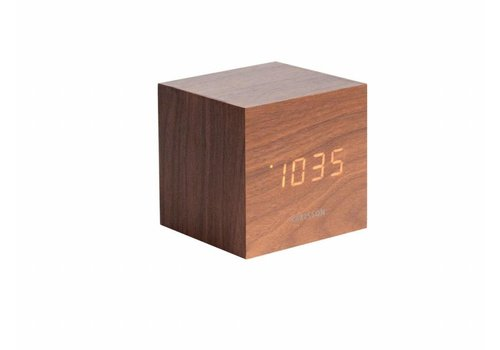 Karlsson MinI Cube alarmklok Wit LED