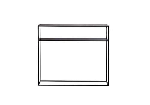 Tine K Home Zwarte consoletafel 100x35 cm