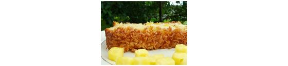Rye bread with pineapple and coconut