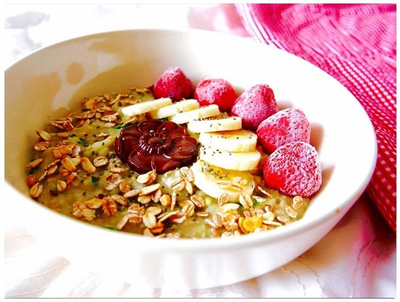 Greensweet Stevia Banana Chocolate chop oatmeal.jpg