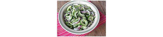 Komkommer dille salade zonder suiker