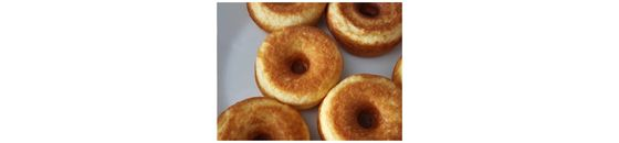 Low-carbohydrate donuts