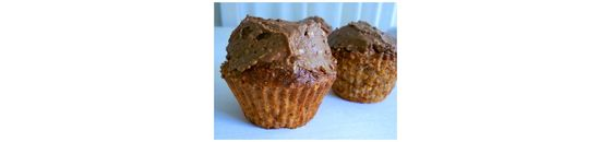 Muffins met notellatopping a la Rilana