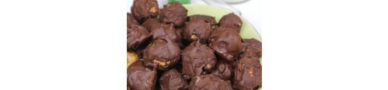 Chocolade en salted caramel kruidnoten (vegan en glutenvrij)