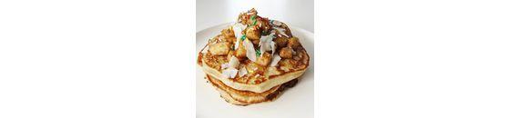 Appel Kaneel Kwark Pancakes van ontbijten met Chantal