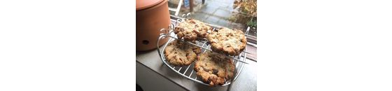 Walnoten koekjes met zeezout en een vleugje caramel