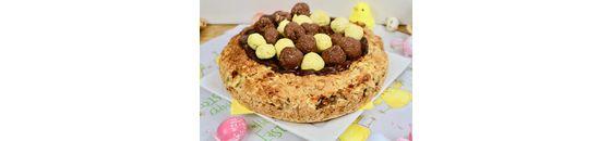 Vegan Easter bird nest cake