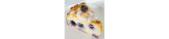 Coconut cake with blue berries