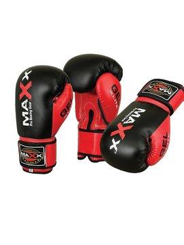 MAXX PRO BOXING GEAR Bokshandschoenen PU Zwart/Rood