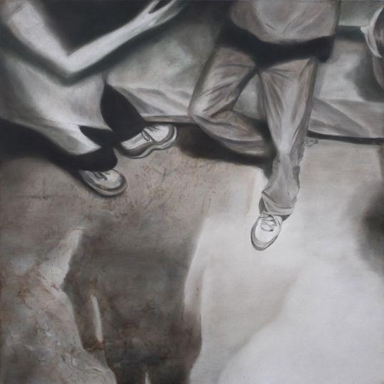 Jeroen Baeken - Schilderij 13 - 95 x 95 cm