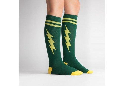 Sock It To Me Green Bolt Socks