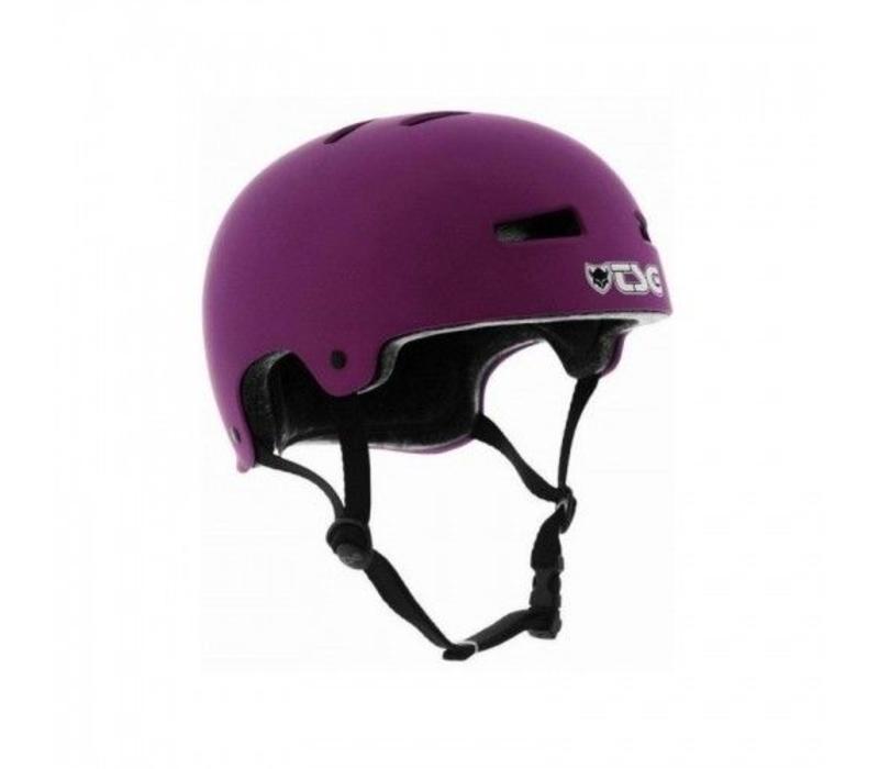 TSG Evolution Helmet Purple Matte L/XL