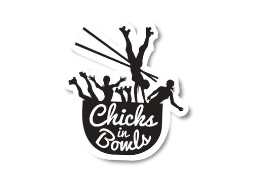 Chicks in Bowls CIB Classic Sticker
