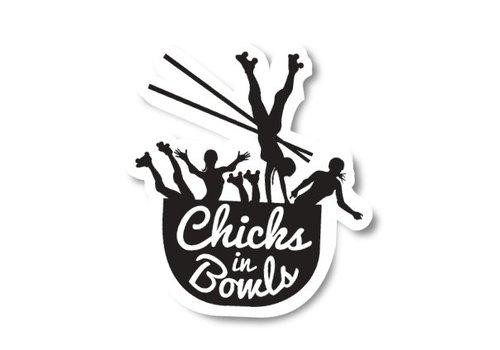 Chicks in Bowls CIB Classic Sticker