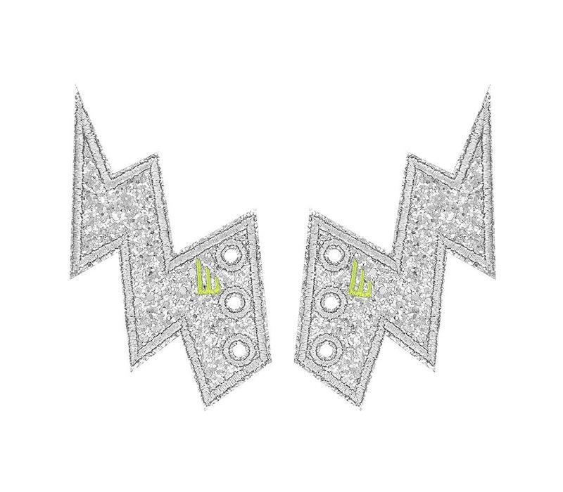 Lightning Bolt Silver Sparkle Shwings