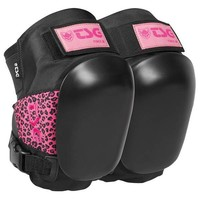 TSG Force III Knee Pads Pink Leopard size M
