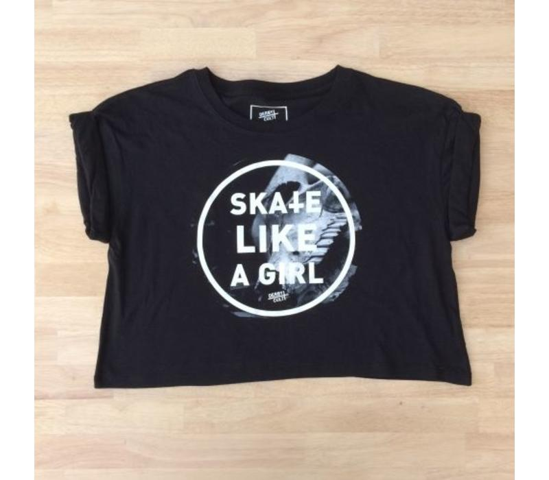 Derby Cult + Skate Like a Girl - Crop Top