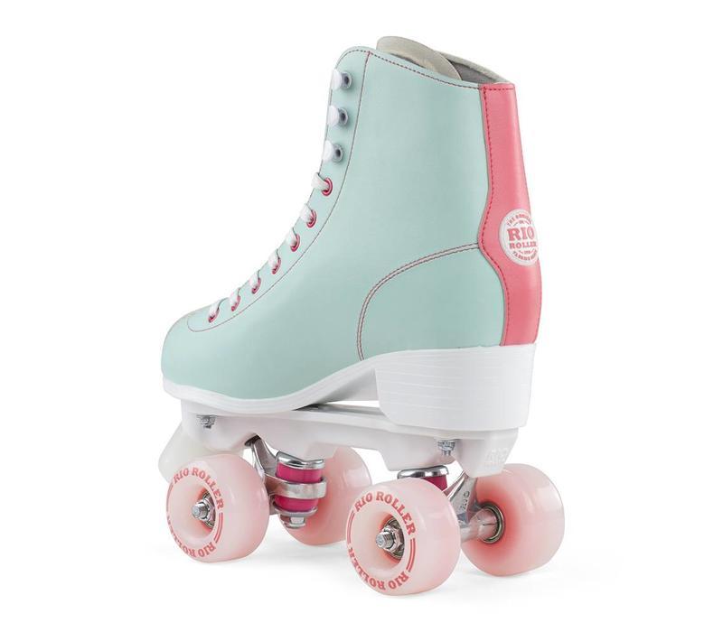 Rio Script Teal/Coral Roller Skates